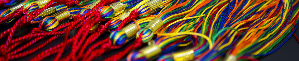 Photo of rainbow graduation tassles