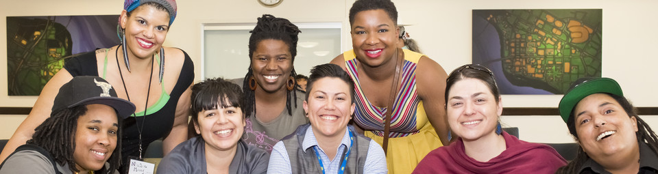 Photo of group of QIPOC folks at the Queer People of Color Conference 2014
