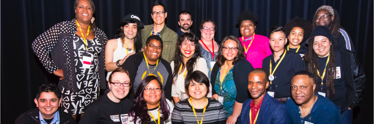 Photo of the planning committee members of the 2014 Queer, Indigenous People and People of Color Conference